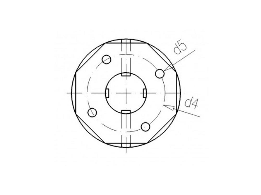 Tank connector 32mm x 1 1/2