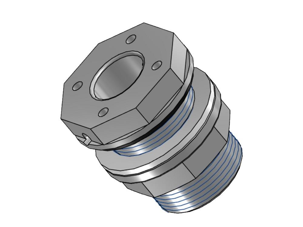 Tank connector 40mm x 2