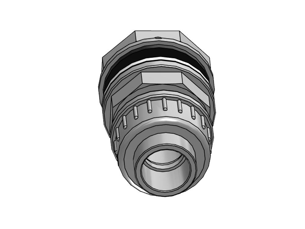 Tank connector + union 16mm x 3/4