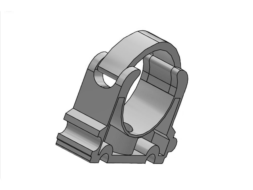 Tube clip 2 1/2