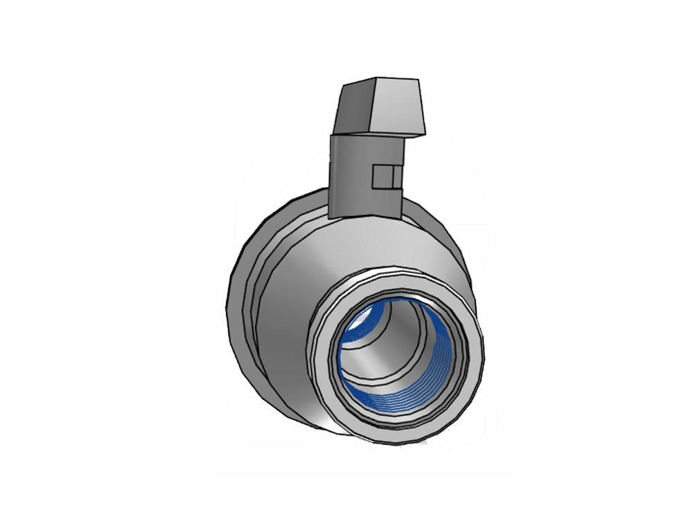 Pvc ball valve type: eid 1 1/2