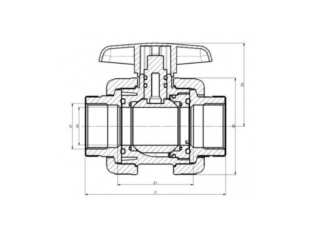Pvc ball valve type: dil 1