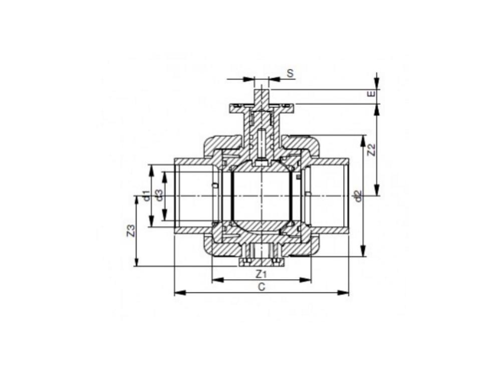 Iso-top ball valve 1 1/2