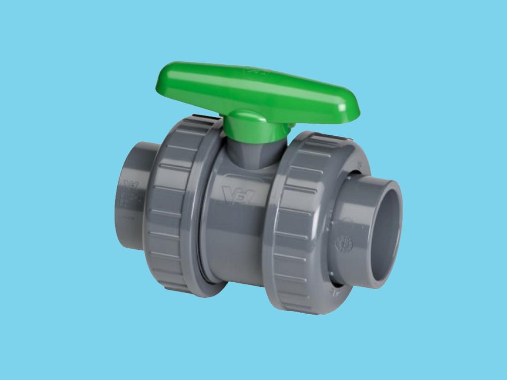 Pvc ball valve type : dil 63x63mm viton® dn50
