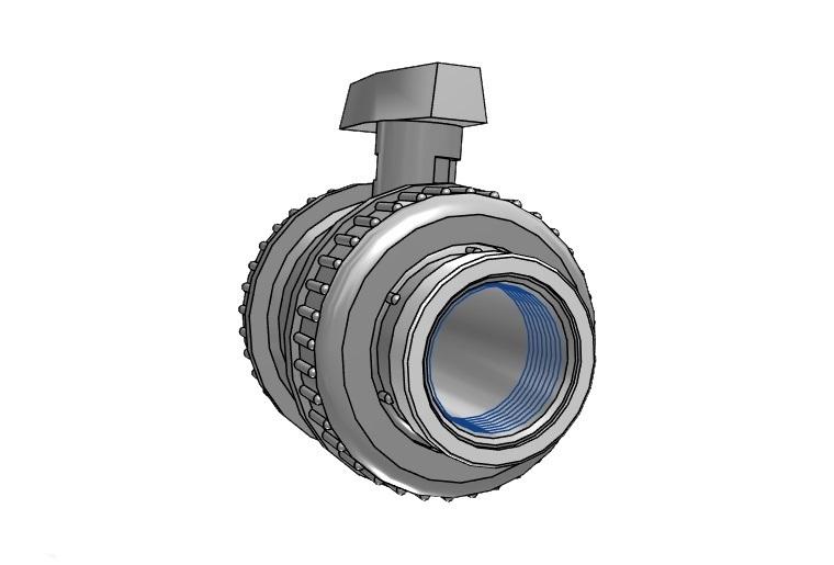 Pvc ball valve type : dil 75 x 75mm viton® dn65