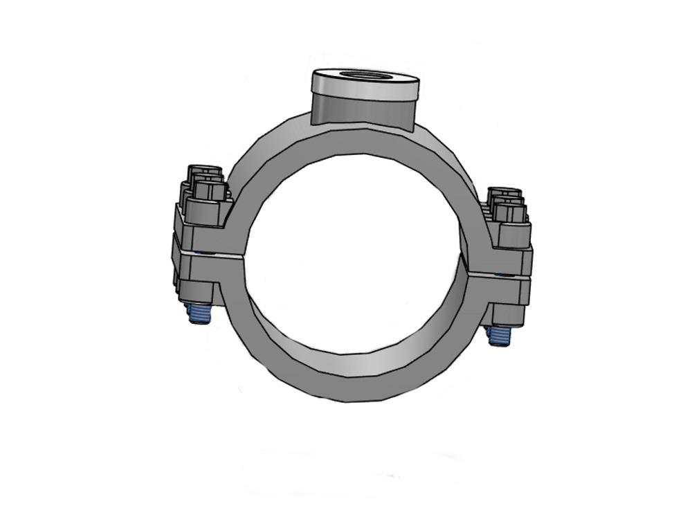 Pp clamp saddle 125mm x 2