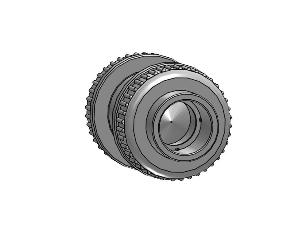 Checkvalve + spring Ø75 x 75mm Viton