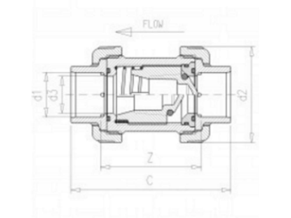 Checkvalve + spring Ø110 x 110mm Viton