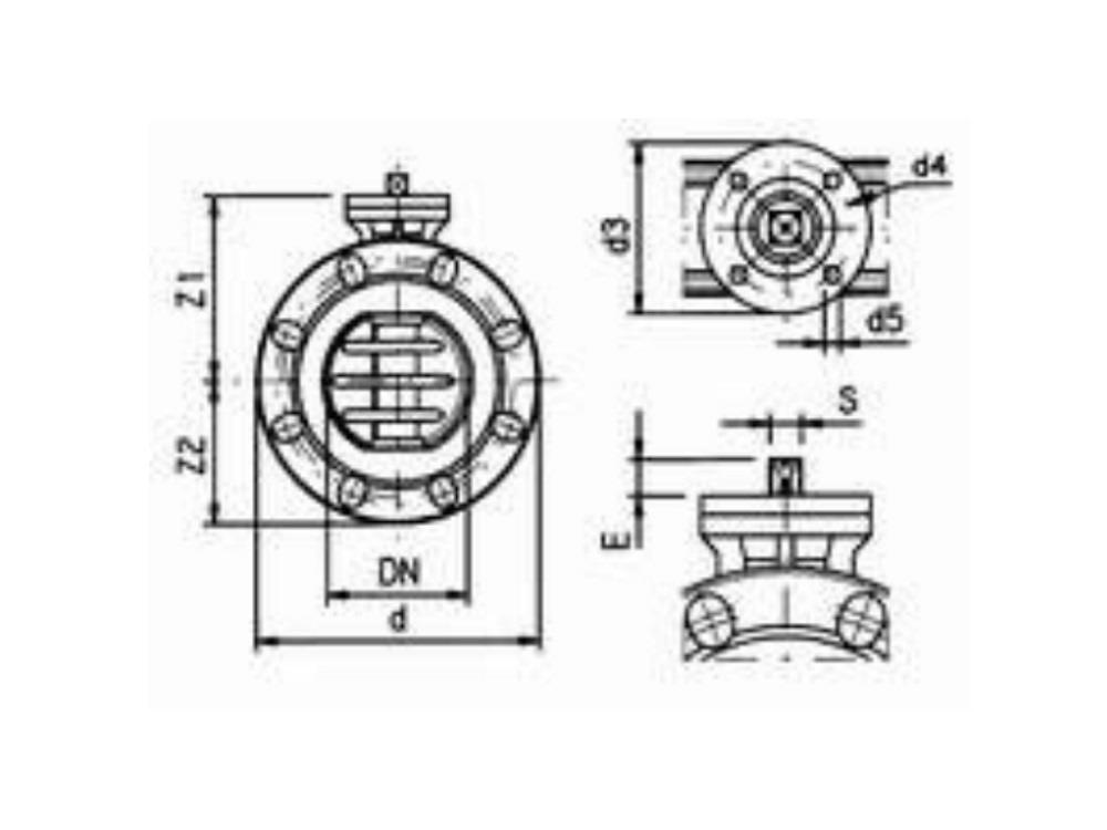 Butterfly valve 140mm dn125