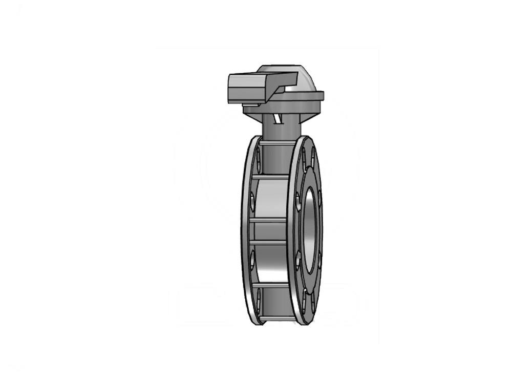 Butterfly valve 225mm dn200