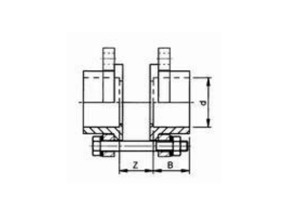 Kit for butterfl. valve 110 x 110mm dn100