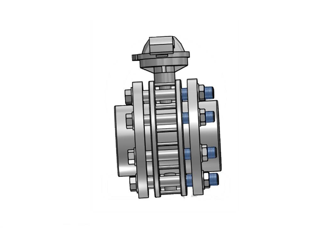 Butterfly valve dn65 + kit 63 x 63mm
