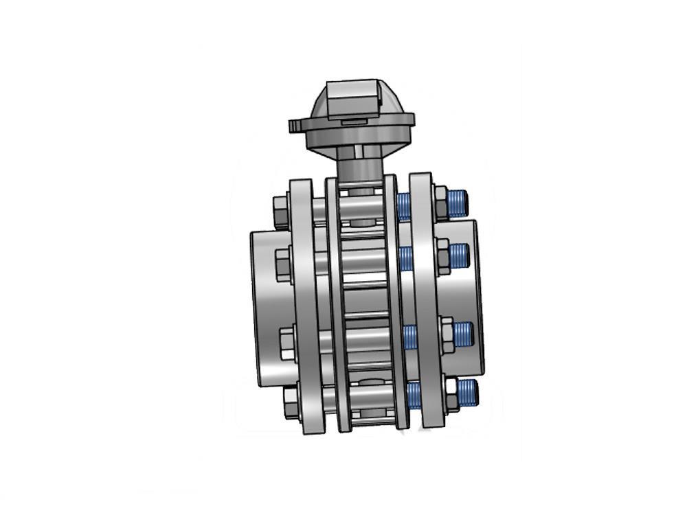 Butterfly valve dn100 + kit 110 x 110mm