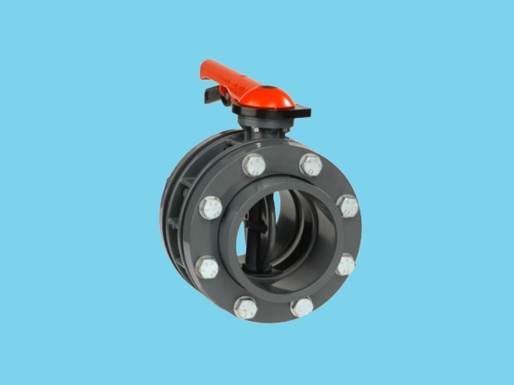 Butterfly valve dn125 + kit 140 x 140mm