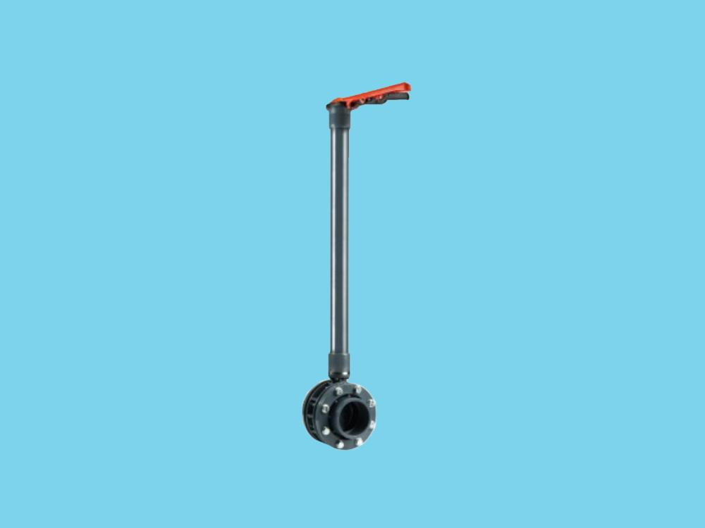 Butterfly valve dn125 + kit 140 x 140 + 1500mm