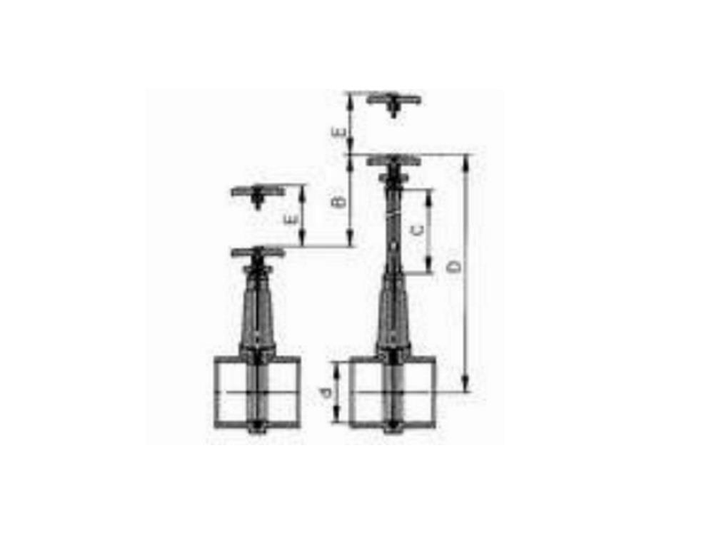 Slide valve dil 110mm (ss-slide) elongated 500 mm