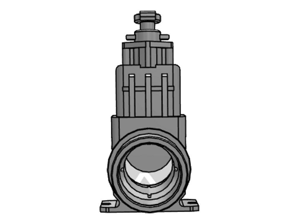 Slide valve dil 160mm (ss-slide) elongated 500 mm