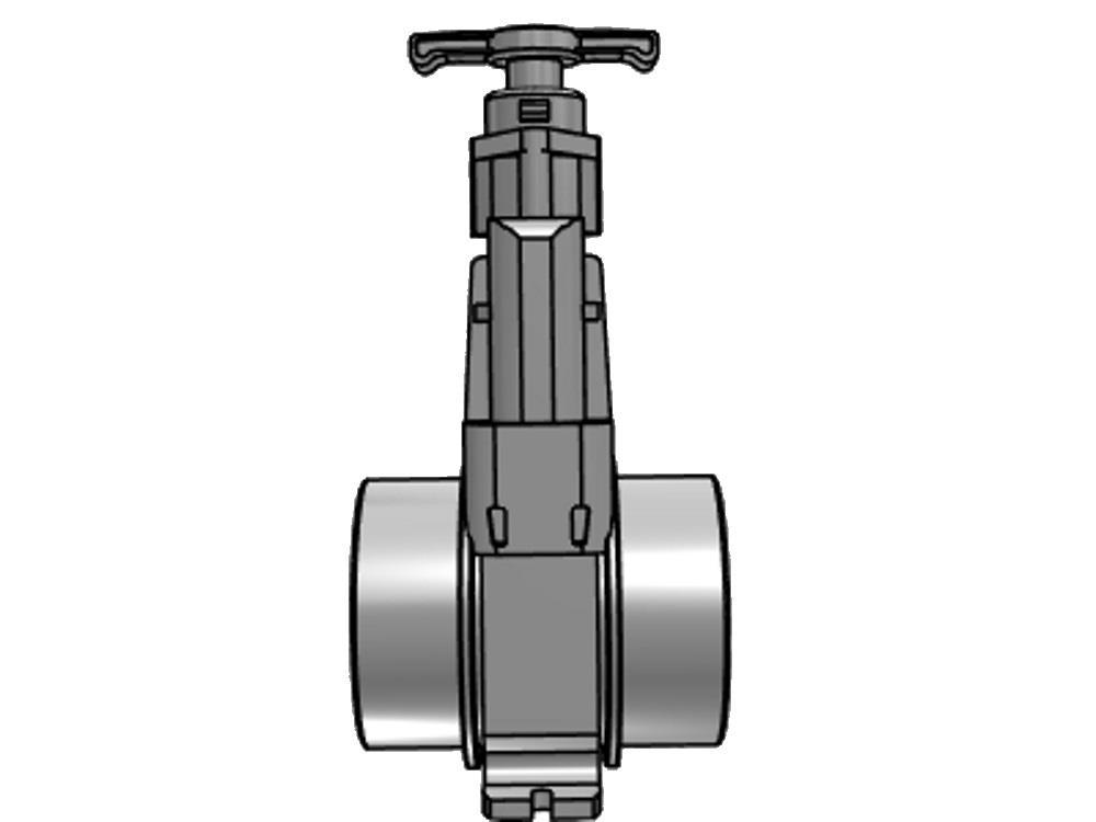 Slide valve dil 200mm (ss-slide) elongated 2000 mm