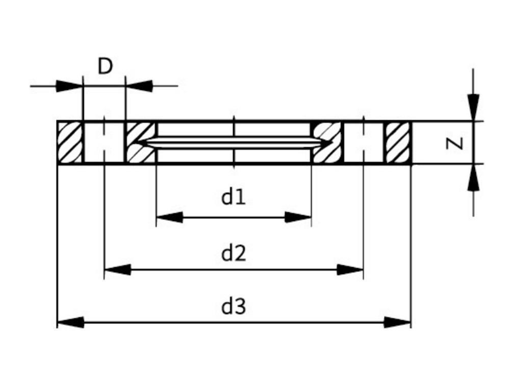 Pp-v flange 25mm