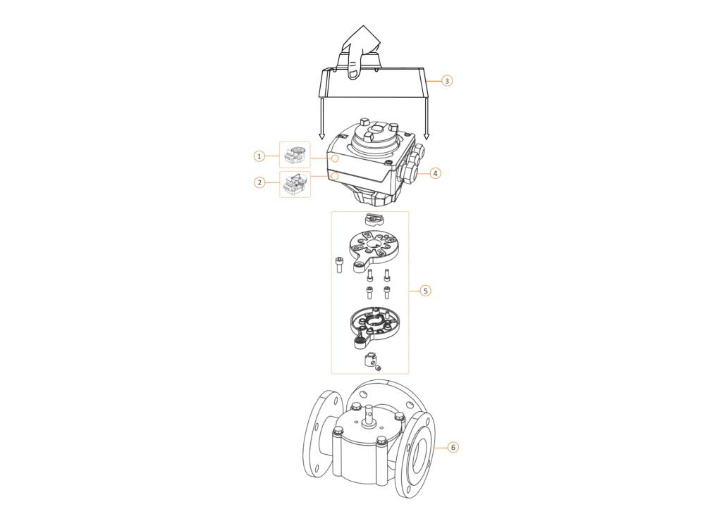 Siemens VBF21 3-port slipper valve PN6 flanged DN 125 kvs 55