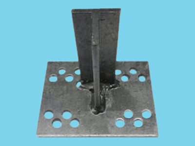 T-console 100mm for post 100-160mm dip galvanised