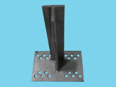 T-console 100mm for post 160-220mm dip galvanised