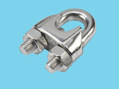 Stainless wire rope clip 6mm DIN741/AISI-316, 100 pieces