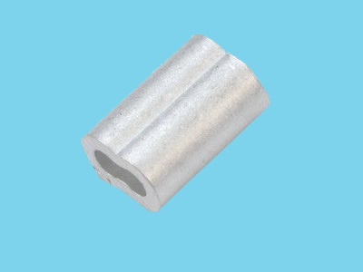 Aluminium ferrule 8-shape for steel wire rope 5 mm