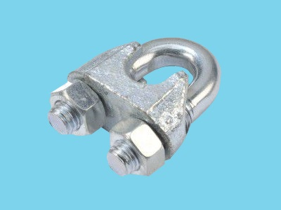 Galvanised wire rope clip 6mm DIN741