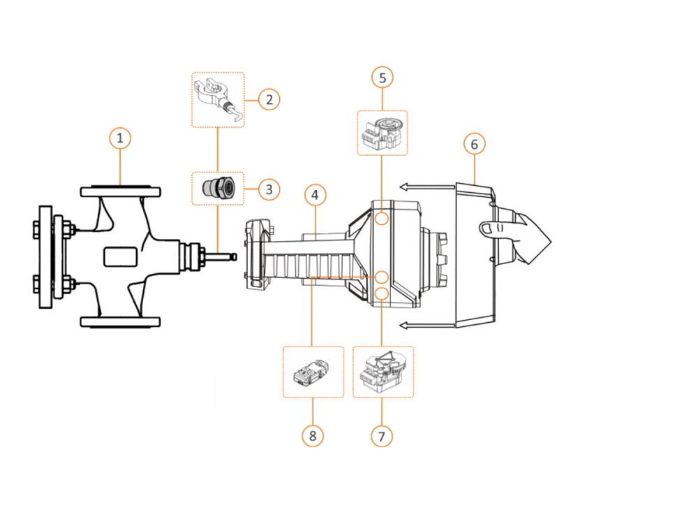 Siemens 3-port valve VXF22 PN6 + flange conn. DN25 KVS 10