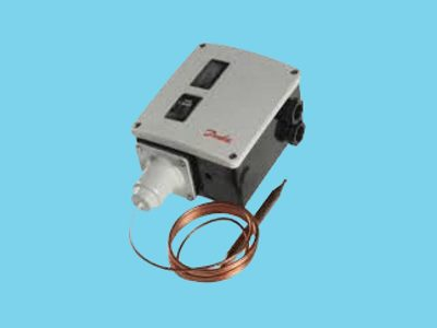 Danfoss RT 107 thermostat with remote sensor and capillary 7