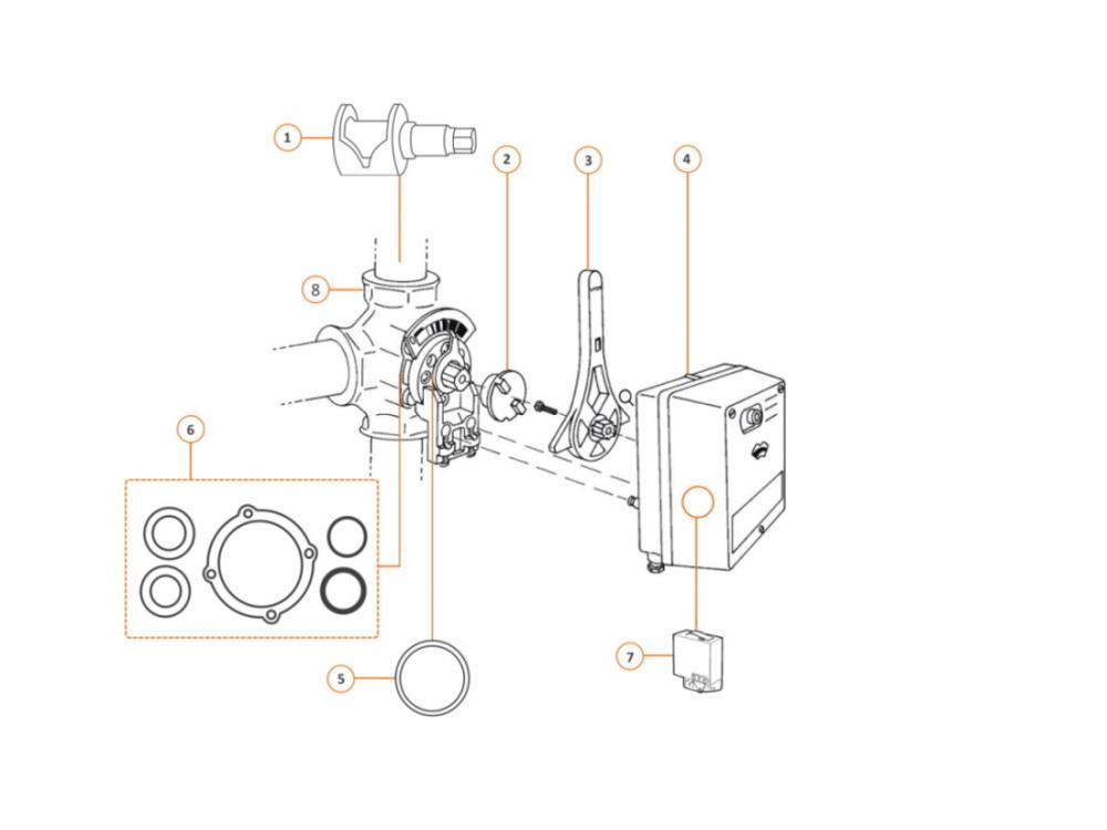 Centra 3-way mixing valve DR 40 GFLA - DN 40mm