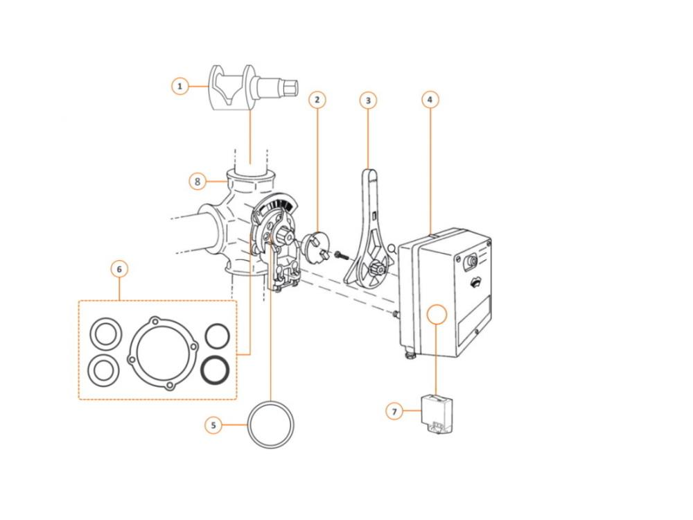 Centra Plug 3-way mixing valve DR-G 80mm