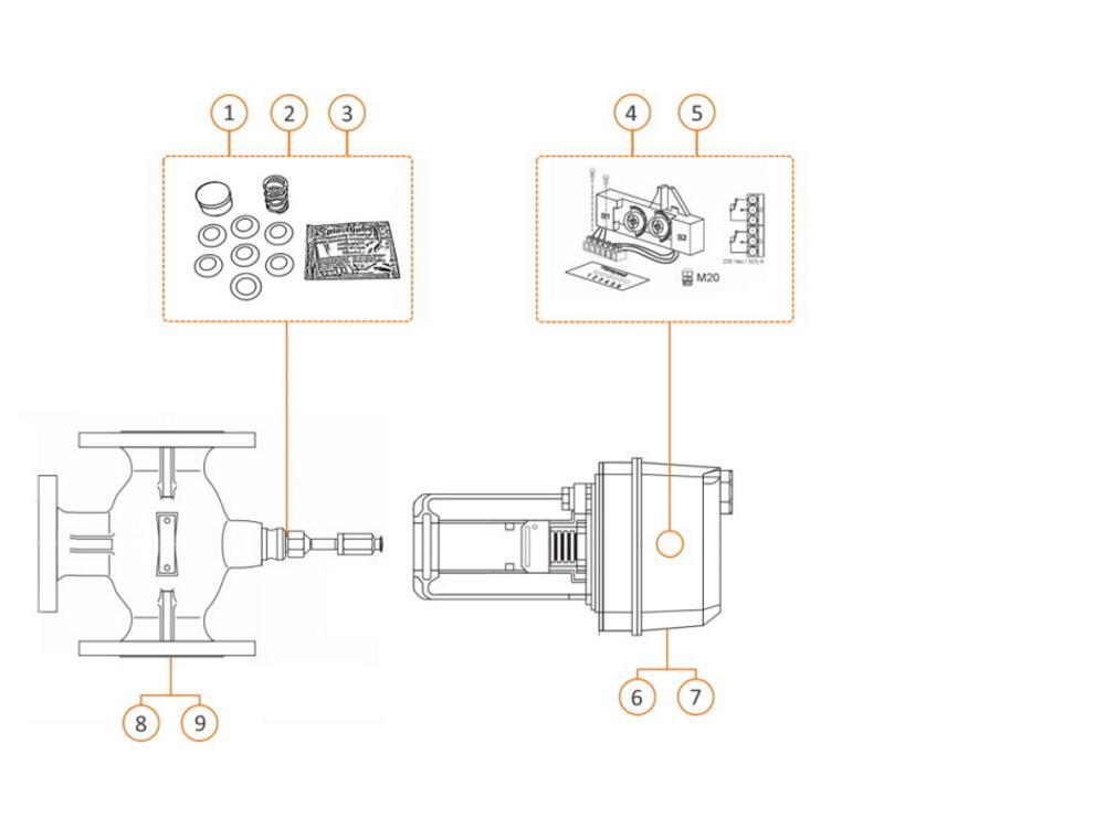 Honeywell actuator for valve 100 - 150 mm