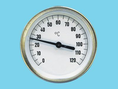 Flue gas thermometer  0-500°C chest 63mm insert 300mm