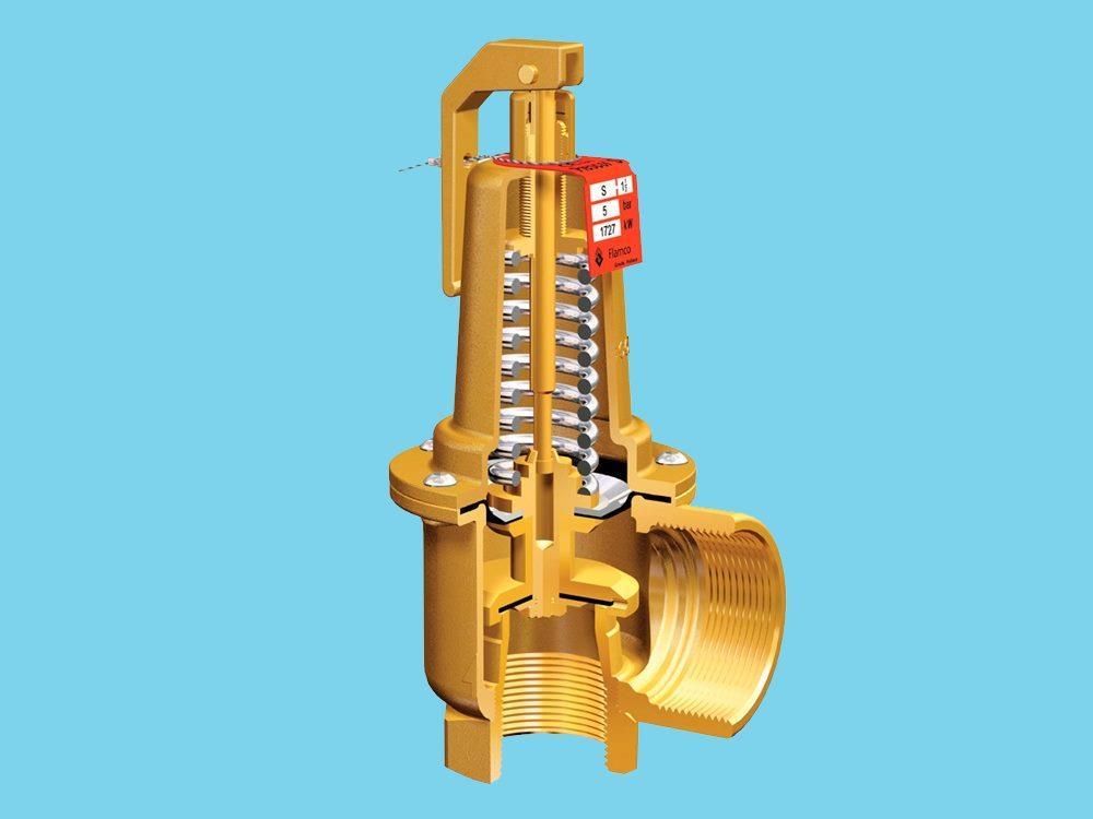 Flamco Prescor S960 safety valve 3 Bar 1,1/2