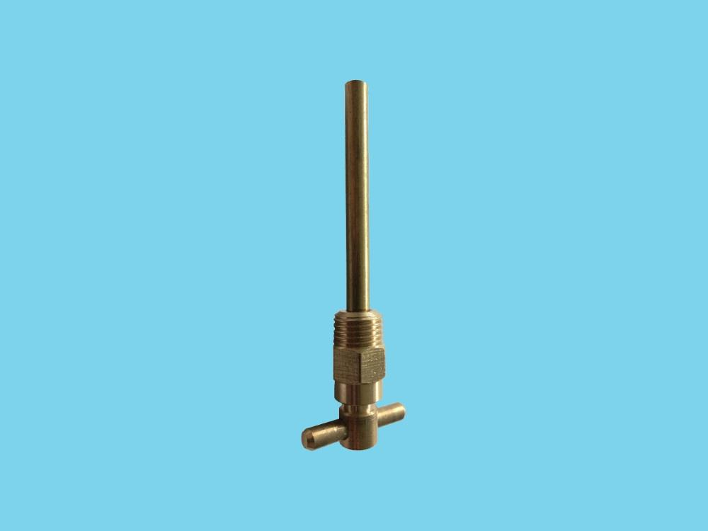 Air vent brass t-model with pipe 1/4""