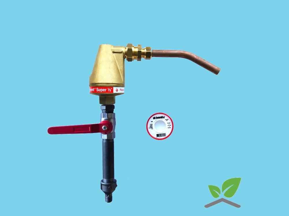 Automatic venting set Flamco Flexvent Super