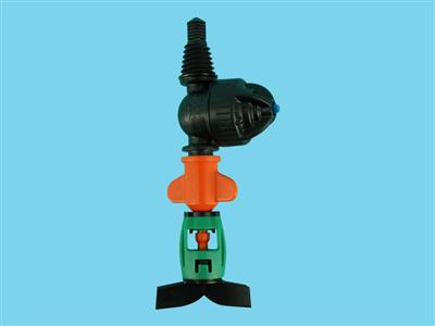 DAN-sprinkler witht LPD-3/8ww 120ltr orange