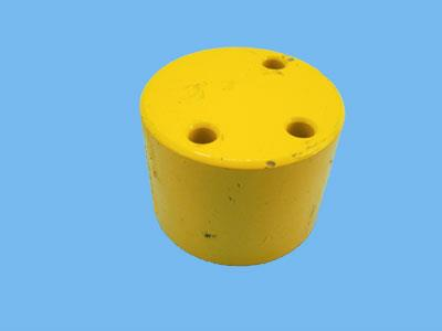 button end-key-valve kfl yellow
