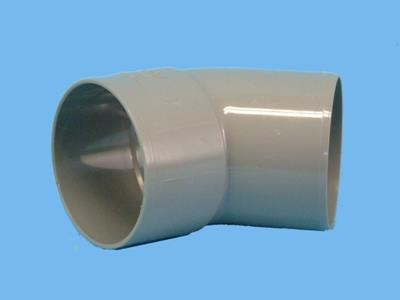 "Bend Ø 70mm x 45"" - 1 x wedge 1 x solvent cement socket pvc"