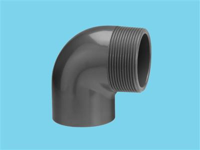 "Elbow 50mm x 5/4"" 90"" male 10bar pvc"