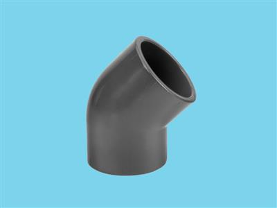 "Elbow 250x250mm 45"" 10bar pvc"