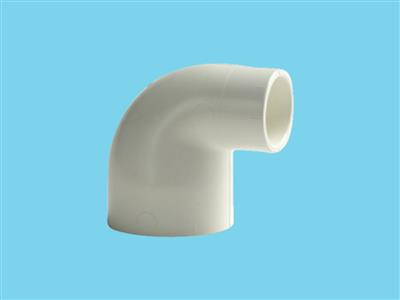elbow 50 x 32 white pn 10