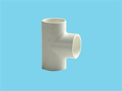 "Tee Ø75 x 75 x 75 mm 90"" 16bar pvc white"