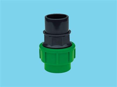 adaptor union  pe16mm x pvc25-32mm