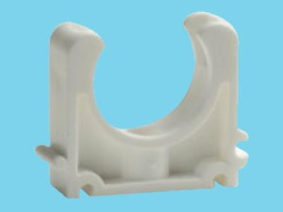 Tube clip Ø32mm white pvc