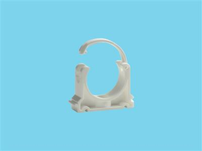 Tube clip Ø40mm white pvc