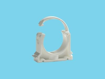 pipe clamp white 90mm pvc