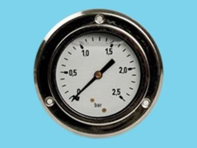 "pressure gauge 0-6b chrome 1/4""63mm"
